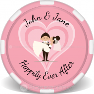 Wedding Couple Custom Poker Chips