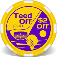 Tee Time Custom Clay Poker Chips