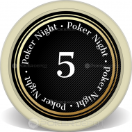 Spade Graduation Night Custom Clay Poker Chips