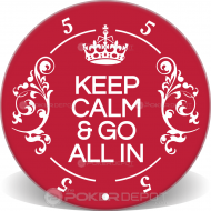 Keep Calm Custom Ceramic Poker Chips