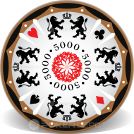 Lion Crest Custom Ceramic Poker Chips