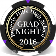 Spade Grad Night Custom Clay Poker Chips