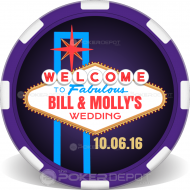 Vegas Sign Wedding Custom Poker Chips