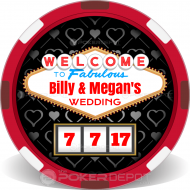 Vegas Wedding Custom Clay Poker Chips