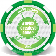Worlds Greatest Golfer Custom Clay Poker Chips
