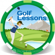Golf Lessons Custom Poker Chips