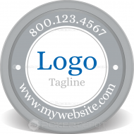 Logo & Slogan Custom Clay Poker Chips