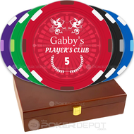 Player's Club Custom Poker Chips Set