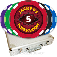 Jackpot Poker Room Custom Poker Chips Set