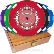 Plush Elegant Custom Poker Chips Set