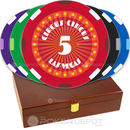 Circus Style Custom Poker Chips Set