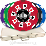 Ring of Suits Custom Poker Chips Set
