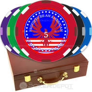 Patriotic Custom Poker Chips Set