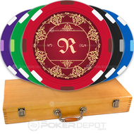 Elegant Monogram Custom Poker Chips Set