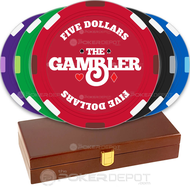 The Gambler Custom Poker Chips Set