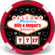 Vegas Wedding Clay Poker Chip