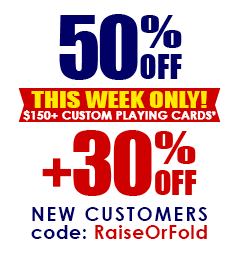 30% OFF + Free Shipping for Custom Playing Cards This Week Only!
