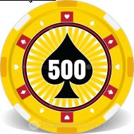 Spade Design Casino Chips