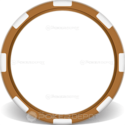 Brown 8-Stripe Poker Chip