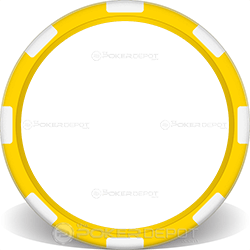 Yellow 8-Stripe Poker Chip