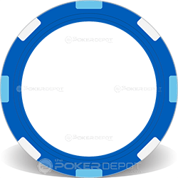 Blue Multi-Stripe Poker Chip