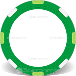 Green Multi-Stripe Poker Chip