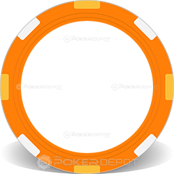 Orange Multi-Stripe Poker Chip