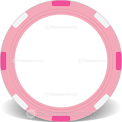 Pink Multi-Stripe Poker Chip