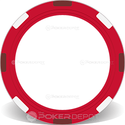 Red Multi-Stripe Poker Chip