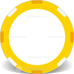 Yellow Multi-Stripe Poker Chip