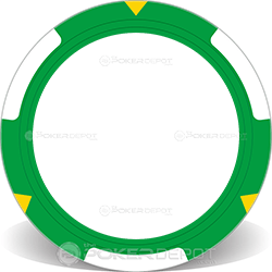 TRIO Green Poker Chip