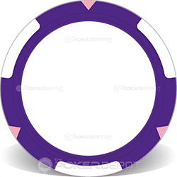 TRIO Purple Poker Chip