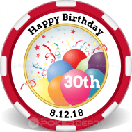 Happy Birthday Customized Poker Chips