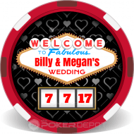 Las Vegas Wedding Customized Poker Chips