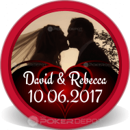 Save the Date Customized Poker Chips
