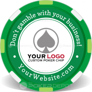 Self Promo Customized Poker Chips