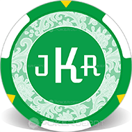 Custom Initials Personalized Poker Chips