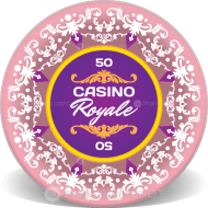 Elegant Wedding Personalized Poker Chips