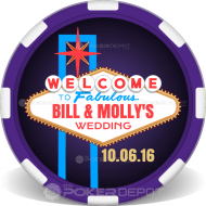 Las Vegas Personalized Poker Chips