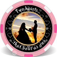 Wedding Date Personalized Poker Chips