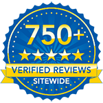 750+ Verified Reviews